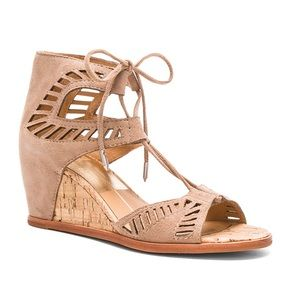 Dolce Vita Linsey Perforated Cork Wedge Sandal 9.5